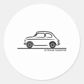 Fiat 500 Cinquecento Round Stickers