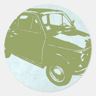 Fiat 500 classic round sticker