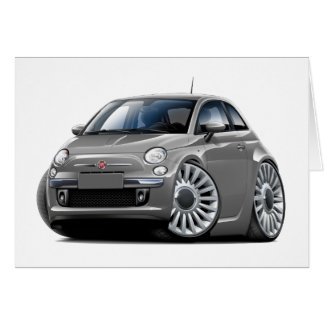 Fiat 500 Grey Car Card