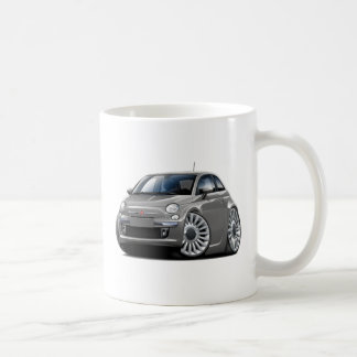 Fiat 500 Grey Car Coffee Mug