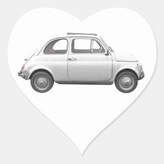Fiat 500 heart sticker