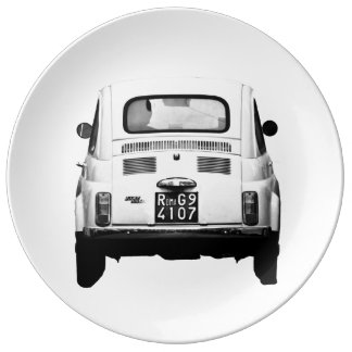 Fiat 500 in Italy dining plate