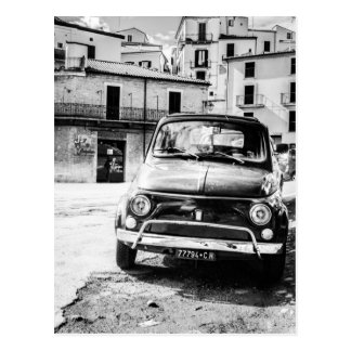 Fiat 500 in Italy retro travel gifts Postcard