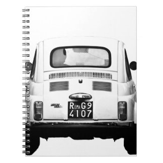 Fiat 500 in Rome, Italy. Notebooks