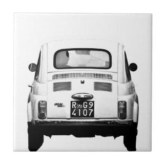 Fiat 500 in Rome, Italy. Tile