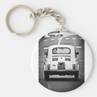 Fiat 500 in Rome Key Ring