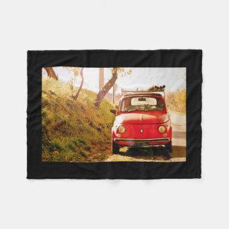 Fiat 500, Italy, Fleece Blanket vintage car