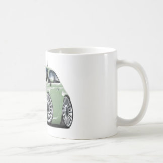 Fiat 500 Lt Green Car Coffee Mug