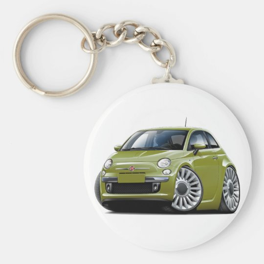 Fiat 500 Olive Car Basic Round Button Key