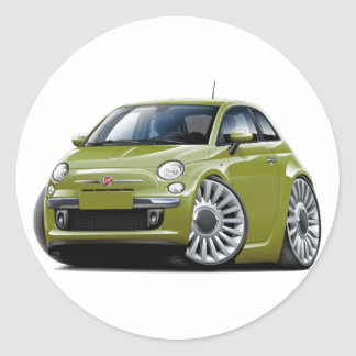 Fiat 500 Olive Car Stickers