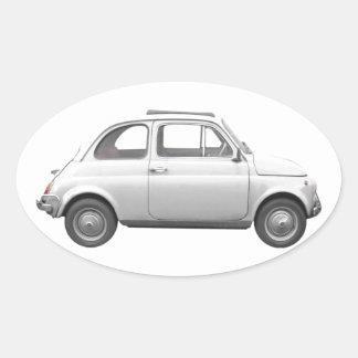 Fiat 500 oval stickers