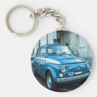 Fiat 500 Police car in central Italy Key Ring