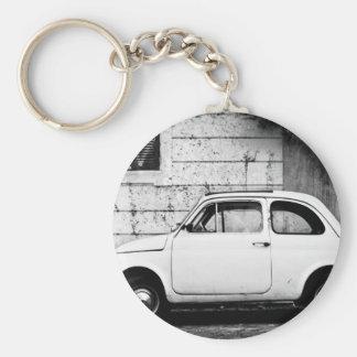 Fiat 500 Rome Basic Round Button Key Ring