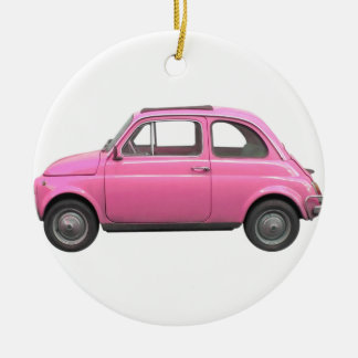 Fiat 500 round ceramic decoration