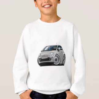 Fiat 500 Silver Car Sweatshirt