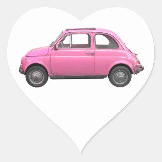 Fiat 500 heart stickers