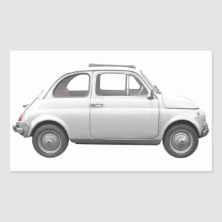 Fiat 500 rectangular stickers