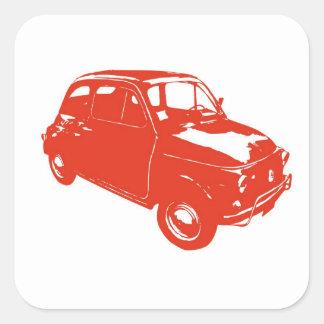 Fiat 500 square sticker