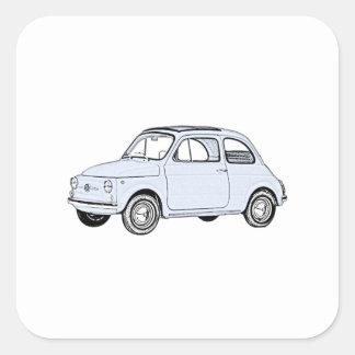 Fiat 500 Topolino Square Sticker