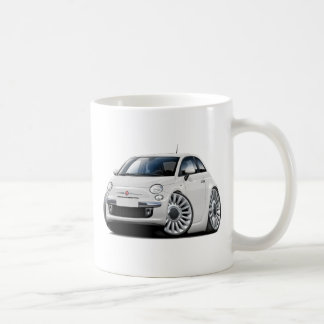 Fiat 500 White Car Coffee Mug