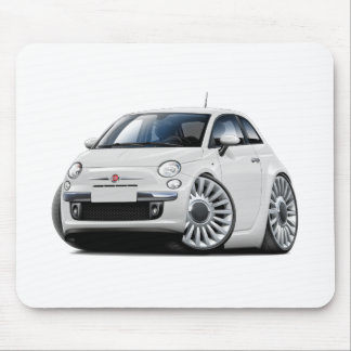 Fiat 500 White Car Mouse Mat