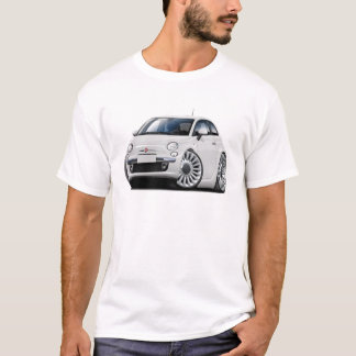 Fiat 500 White Car T-Shirt