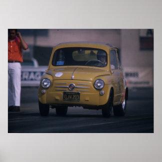 Fiat 600 - Little Giant Killer - Vintage Drag Poster