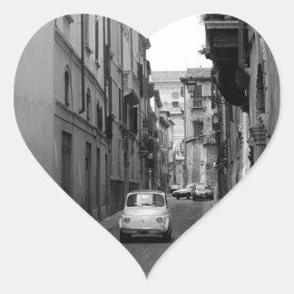 Fiat Cinquecento in Verona Heart Sticker
