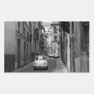 Fiat Cinquecento in Verona Rectangular Sticker