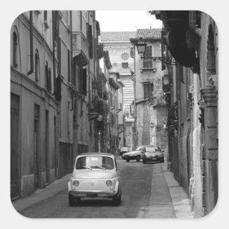 Fiat Cinquecento in Verona Square Sticker
