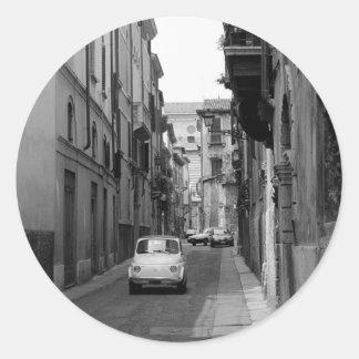 Fiat Cinquecento in Verona Round Sticker