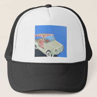 fiat with canape trucker hat