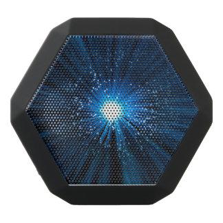 Fiber optic abstract. black bluetooth speaker