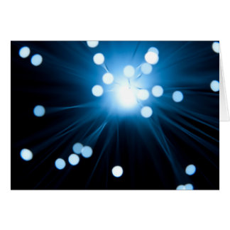 Fiber optic abstract. card
