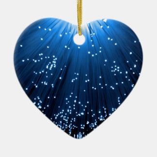 Fiber optic abstract. ceramic heart decoration