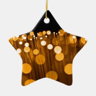 Fiber optic abstract. ceramic star decoration