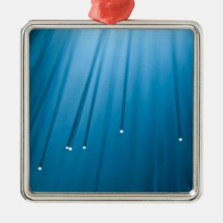 Fiber optic abstract. christmas ornament
