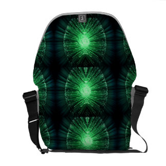 Fiber optic abstract. courier bag