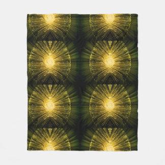 Fiber optic abstract. fleece blanket