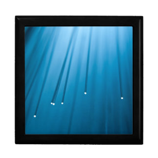 Fiber optic abstract. gift box