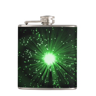 Fiber optic abstract. hip flask