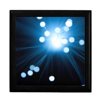 Fiber optic abstract. large square gift box