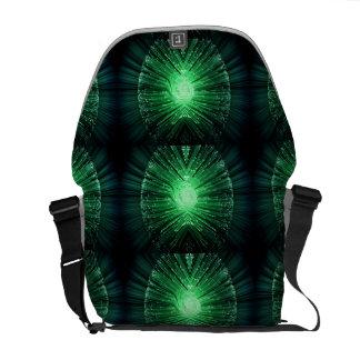 Fiber optic abstract. messenger bag