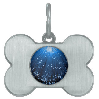 Fiber optic abstract. pet ID tag