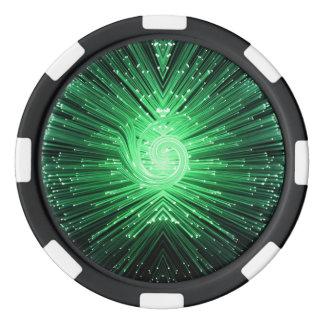 Fiber optic abstract. poker chip set