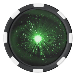 Fiber optic abstract. poker chips