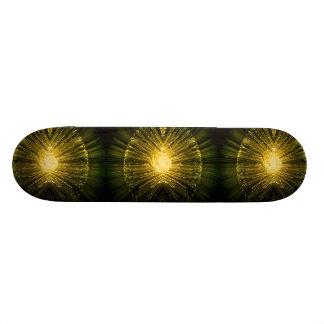 Fiber optic abstract. skate board