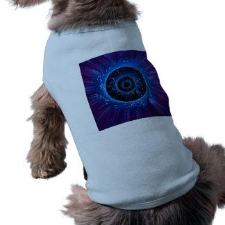 Fiber optic abstract. sleeveless dog shirt