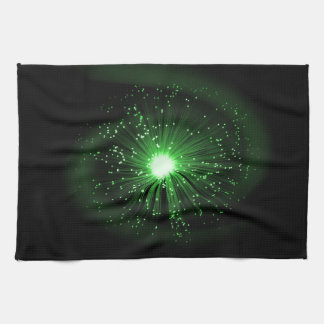 Fiber optic abstract. tea towel