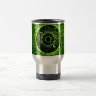 Fiber optic abstract. travel mug